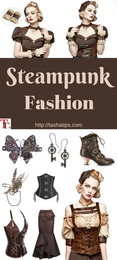 Steampunk Clothing, Fashion and Costumes. How to Dress Steampunk? Steampunk cors… - All About Decoration Goggles Steampunk, Casa Steampunk, What Is Steampunk, Steampunk Witch, Steampunk Halloween, Steampunk Gadgets, Steampunk Design, Victorian Steampunk, Steampunk Crafts