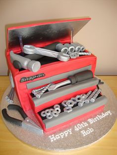 Mechanic/Toolbox cake - For all your cake decorating supplies, please visit craftcompany.co.uk