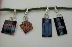 Doctor Who Logos Crochet Stitch Markers