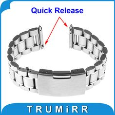 >> Click to Buy << 18mm Quick Release Watchband for Withings Activite / Steel / Pop Stainless Steel Band Smart Watch Metal Strap Link Bracelet #Affiliate