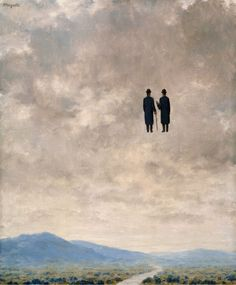 René Magritte The Art of Conversation 1963 Intercepted by Gravitation