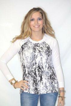 1c7df0785d3d5 Kensie Printed Sweatshirt - BK s Brand Name Clothing Named Clothing
