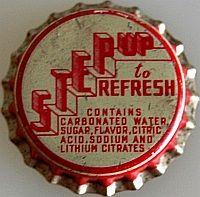 Step Up to Refresh, soda bottle cap | Webster Bottling Co., Webster, Massachusetts USA | Cap used 1948-1953 | One sold on eBay 6-2012 for $26.55.