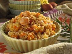 Ricetta: Quinoa con Ceci e verdure -senza glutine- I Love Food, Good Food, Vegetarian Recipes, Healthy Recipes, Healthy Foods, Happy Foods, Greens Recipe, Foods With Gluten, Food For Thought
