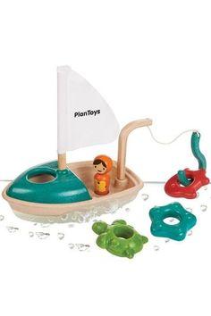 Badewannenspiel Angelboot Holz Plantoys