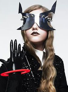 Moss Lipow's sci-fi metal specs for Vogue China shoot