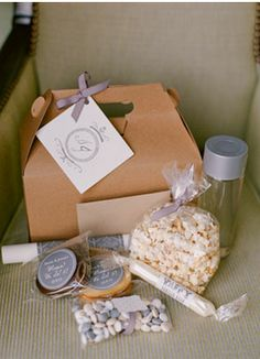 Photo Captured by Kate Headley via Snippet and Ink - Lover. Popcorn Favors, Welcome Bags, Pretty Packaging, Real Weddings, Gift Wrapping, Ink, Wedding Bells, Campaign, Medium
