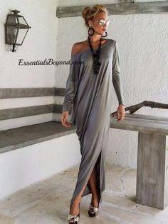 Sexy Autumn Dolman Sleeve Maxi Dress
