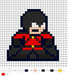 Red Robin Perler Bead Pattern