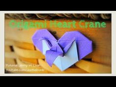 Valentine's Day Crafts - Origami Heart & Crane | How to Fold Crane & Heart - Paper Crafts - YouTube