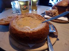 *Svarta Kaffi (soup in a bread bowl, crowded at lunch) - Reykjavik