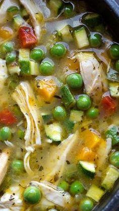 Simple Lemony Chicken  Spring Veggie Soup by Superduper