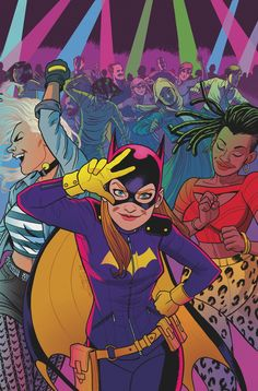 DC's October solicits are out! I colored Joe Quinones' cover for Batgirl!!