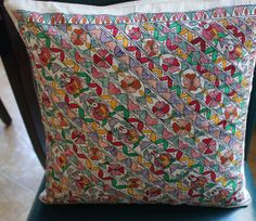 16 x 16 inches Madhubani Pillow by sensitivecreations on Etsy, $20.00