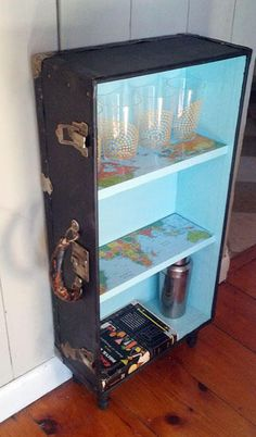 Trunk Upcycled into Shelf | Knack