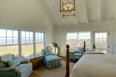 Nantucket Cottage - traditional - bedroom - other metro - Miller & Wright Architects