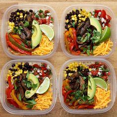Healthy Meals 85075880445996589 - Portobello Fajita Bowl Meal Prep Recipe by Tasty Source by Vegetarian Meal Prep, Vegetarian Recipes, Vegetarian Fajitas, Easy Lunch Meal Prep, Weekly Meal Prep, Simple Meal Prep, Meal Prep Low Carb, Meal Prep Breakfast, Quick Breakfast Ideas