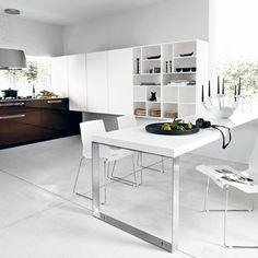 aluminum legs lucrezia designer kitchen by cesar