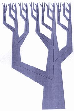 Figure 5: An alternative parsing of the same pattern inverted and shaded to resemble a tree.