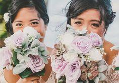Silk Wedding Bouquet Lavender Rose Bouquet by Hollysflowershoppe