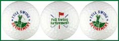 Retirement w/ Golfer Golf Ball Gift Set. Excellent small gift item for any occasion. Great for birthdays, holidays and other special occasions.