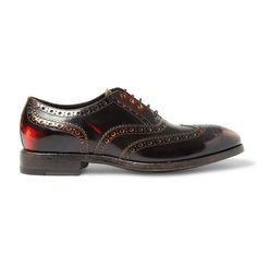 Paul Smith Chuck Burnished-leather Oxford Shoes.