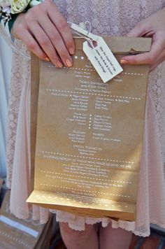 ceremony programs filled with rose petals etc