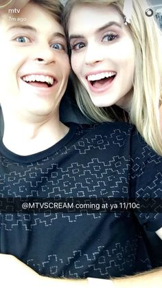 """SCREAM on Twitter: """"PSST look at the cuties I found hanging out on @MTV's Snapchat HI @FollowCarlson & @johnny_k!!! : MTV"""
