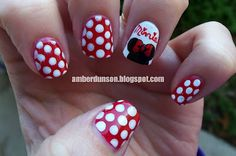 Minnie Mouse Nails! (Going to Nail Safa today!!!)