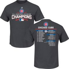 Chicago Cubs 2016 Team Represent Postseason Roster T-Shirt #ChicagoCubs #Cubs #FlyTheW SportsWorldChicago.com
