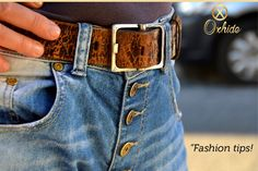 Wash new jeans twice before taking them to the tailor. Why? Because jeans will always shrink in length when washed  #FashionTips