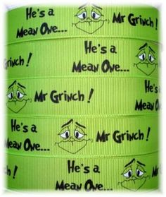 Grinch ribbon