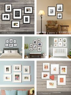 Gallery Wall Ideas: Bringing together life, photography, family, and art *Loved Have you been dreaming of a gallery wall for your home? Check out the collection of gallery wall ideas below and get started on your own. Galary Wall, Casa Hipster, Interior Design Living Room, Interior Decorating, Wall Design, House Design, Gallery Wall Layout, Room Decor, Wall Decor