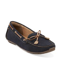 Dunbar Cruiser in Navy Suede - Womens Shoes from Clarks  Love this shoe..it's on my wish list!