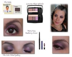 an eye look using the Balm Matt Battali and the Plum Splendor lancome palette more looks here http://colorwheelgallery.blogspot.com/2013/11/classy-purple-with-balm-and-lancome.html