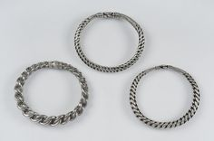 """Three Viking silver bracelets. Hoard find, Gotland, Sweden. Object from the exhibition """"We call them Vikings"""" produced by The Swedish History Museum."""