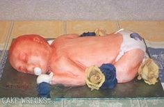 A cake!!!! creepy
