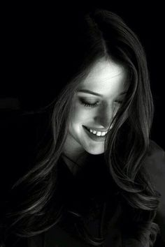 Black and White Photography Portrait of Kat Dennings by Beth Herzhaft