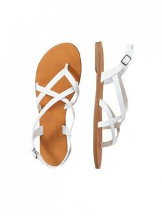 Meet your future favorite pair of white sandals. // Crisscross Sandals by Joe Fresh