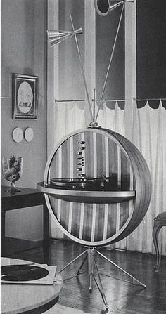 HI-FI Sphere - Atomic/space age influence.