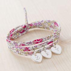 Personalised Liberty Wrap Bracelet - charm jewellery
