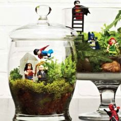 Add some greenery to your house with this super-fun Lego terrarium. Perfect for kids!