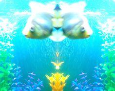 ✧☽ Tank splotches 'Aqua Neeko' ☾✧ #bohemefithome #goldfish Goldfish, Panda, Butterfly, Digital, Pets, Animals, Animaux, Pandas, Animal
