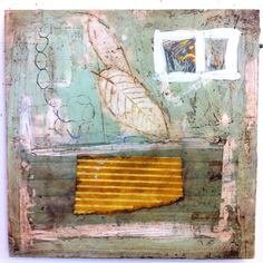 encaustic and mixed media, Amy Weil