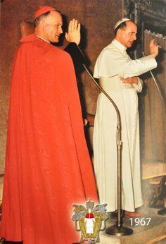 Pope Paul VI with the future John Paul 11