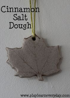 A recipe to make incredible smelling cinnamon salt dough for creating keepsakes and playing with.