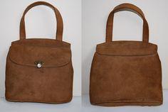 Vintage Retro Style Womans Girls Lady Handbag Bag Brown Eko Leather Fashion