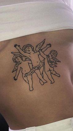 Red Ink Tattoos, Dainty Tattoos, Pretty Tattoos, Body Art Tattoos, Tattoo Drawings, Small Tattoos, Tatoos, Ribbon Tattoos, Tattoos Skull