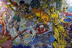 Modern azulejos in Lisbon metro Portugal, Metro Station, Art World, Mosaic Tiles, Modern, Painting, Design, Lisbon, Tiles