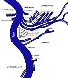 Duisburg-Ruhrorter Häfen - Lageplan